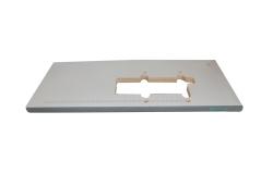 软塑包边灰白面台板